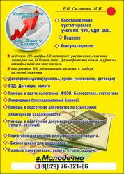 Бухгалтерские услуги,  конмультации,  открытие,  ликвидация ИП,  ЧУП,  ООО,