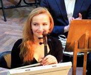 Инструментальное исполнительство - скрипка;  сольфеджио,  гармония.