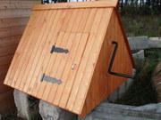 Домик крышка на колодец